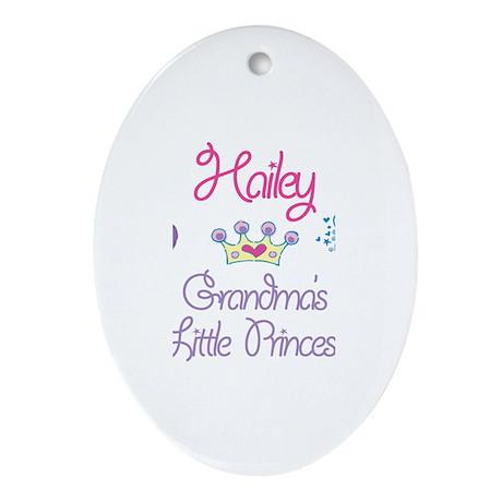 Hailey - Grandma's Princess Oval Ornament