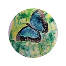 "Monarch butterfly insect bota 3.5"" Button"
