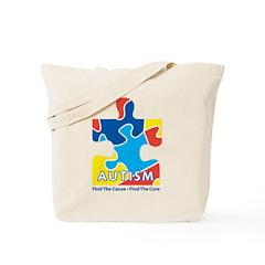 Autism Awarness Puzzle Tote Bag
