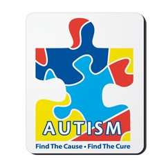 Autism Awarness Puzzle Mousepad
