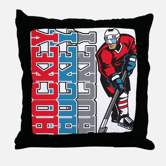 Hockey Sport Throw Pillow