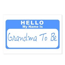 My Name Is Grandma To Be (Blue) Postcards (Package