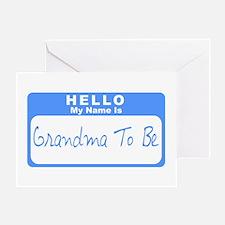 My Name Is Grandma To Be (Blue) Greeting Card