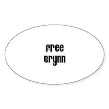 Free Brynn Oval Decal