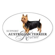 Australian Terrier Rescue Oval Decal