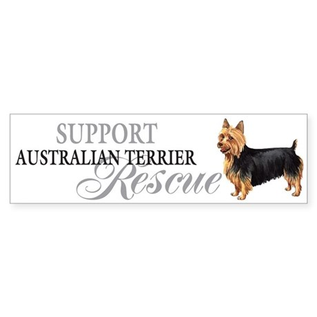 Australian Terrier Rescue Bumper Sticker
