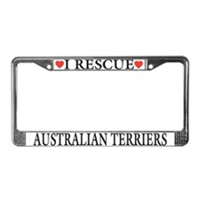Australian Terrier Rescue License Plate Frame
