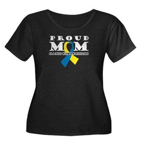 DS Proud Mom Women's Plus Size Scoop Neck Dark T-S
