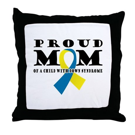 DS Proud Mom Throw Pillow