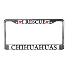 Chihuahua Rescue License Plate Frame