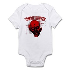 Zombie Hunter Red&Black Heads Infant Bodysuit