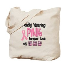 Proudly Wearing Pink 2 (Mom) Tote Bag