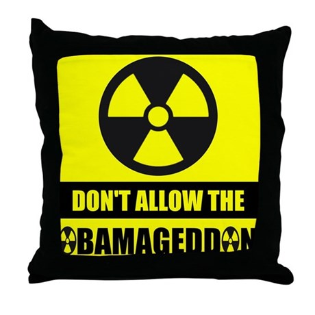 Obamageddon Throw Pillow