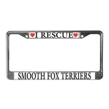 Smooth Fox Terrier Rescue License Plate Frame