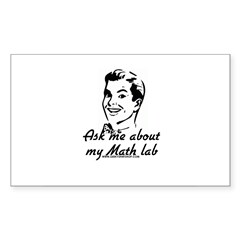 Ask Me About My Math Lab Rectangle Sticker 50 pk)