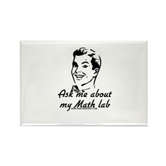 Ask Me About My Math Lab Rectangle Magnet