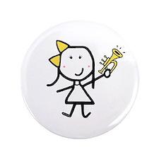 "Girl & Trumpet 3.5"" Button"