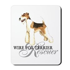 Wire Fox Terrier Rescue Mousepad