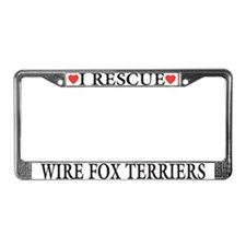 Wire Fox Terrier Rescue License Plate Frame