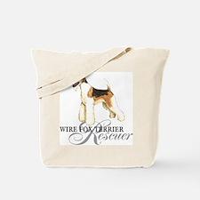 Wire Fox Terrier Rescue Tote Bag
