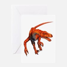 Velociraptor Raptor Dinosaur Greeting Card