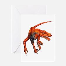 Velociraptor Raptor Dinosaur Greeting Card