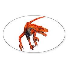 Velociraptor Raptor Dinosaur Oval Decal