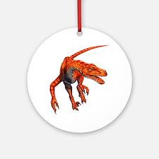 Velociraptor Raptor Dinosaur Ornament (Round)