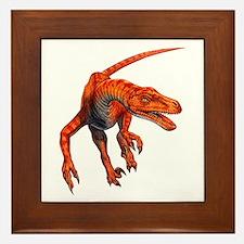 Velociraptor Raptor Dinosaur Framed Tile