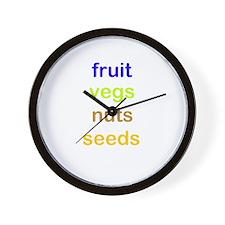 fruit vegs nuts seeds Wall Clock