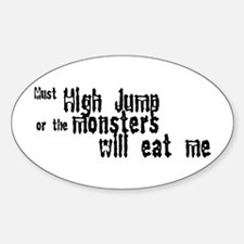 Must High Jump Oval Decal
