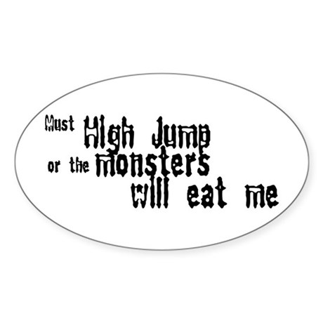 Must High Jump Oval Sticker