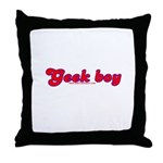 Geek Boy Throw Pillow