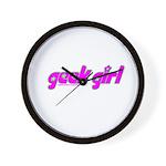 Geek Girl Wall Clock