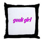 Geek Girl Throw Pillow