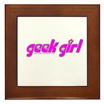 Geek Girl Framed Tile