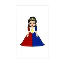 Little Miss Philippines Rectangle Decal
