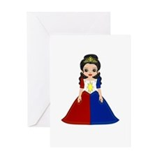 Little Miss Philippines Greeting Card