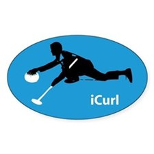 iCurl Curling Oval Decal