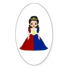 Philippine Princess Oval Decal