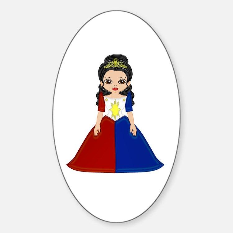 Philippine Princess Oval Decal