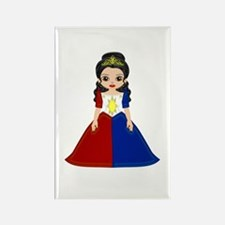 Philippine Princess Rectangle Magnet