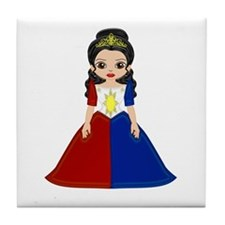 Philippine Princess Tile Coaster