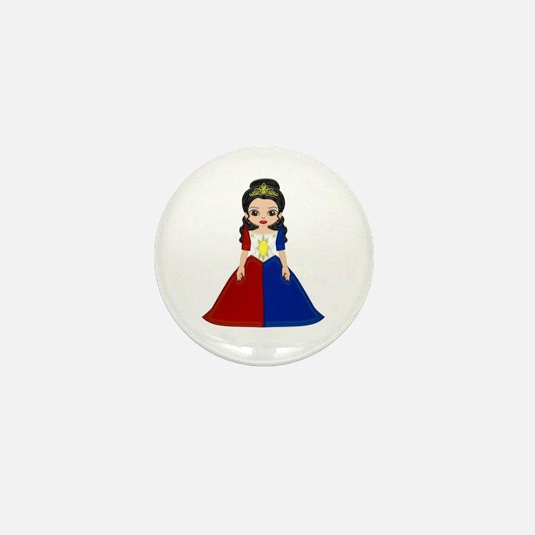 Philippine Princess Mini Button (100 pack)