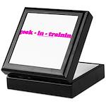Geek In Training Keepsake Box