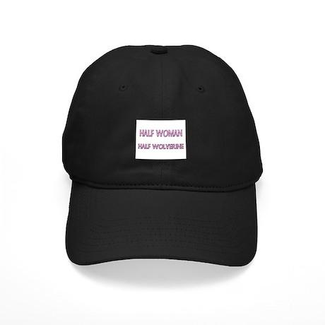 Half Woman Half Wolverine Black Cap