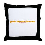 Geeks Deserve Love Too Throw Pillow