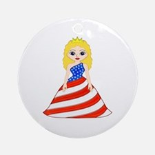 American Princess Ornament (Round)
