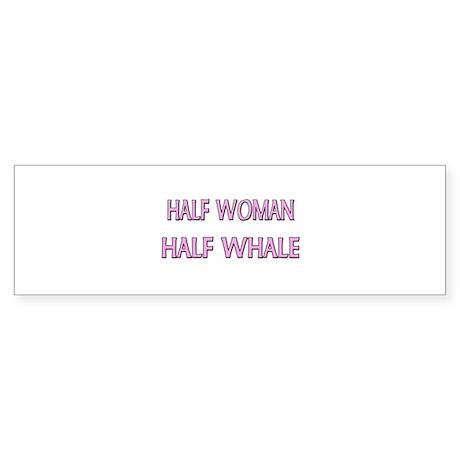 Half Woman Half Whale Bumper Sticker