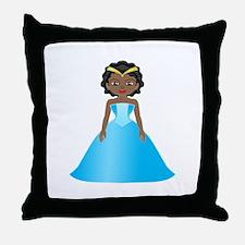 Princess Ebony Throw Pillow